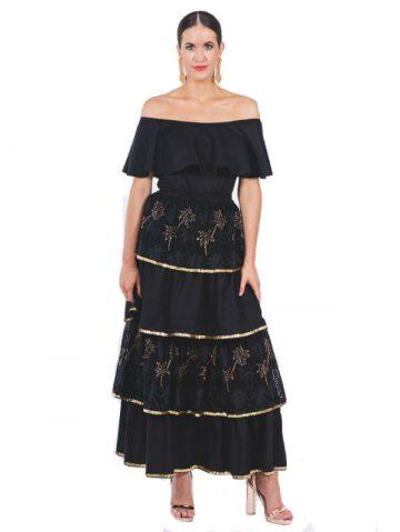 Havana Palm Ruffle Skirt