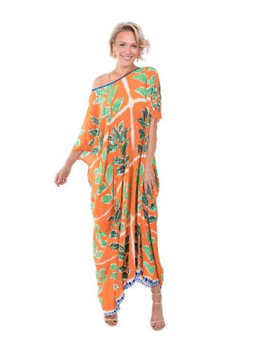 The Orange Leaf Kaftan