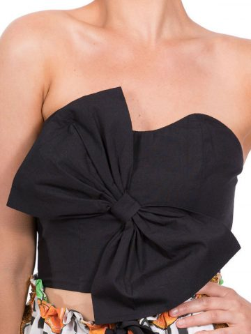 The Black Bow Bustier