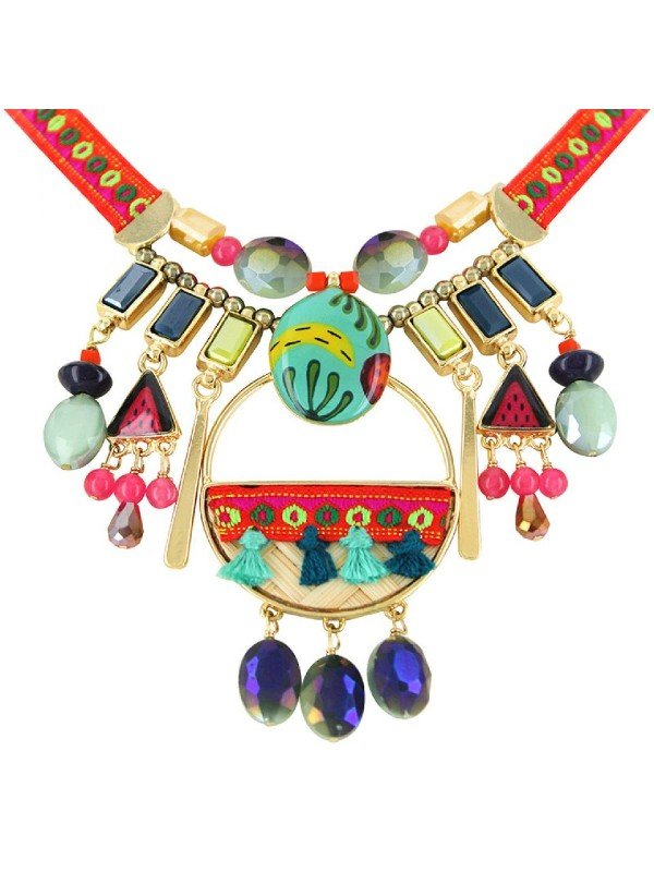 Exotic, ethnic influenced collection from Taratata Bijoux. All the colour, texture and festivity is encapsulated in this vivid, eye catching design. Get your happy on wearing Taratata's Banane Collection.