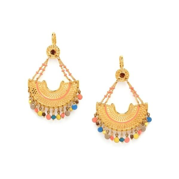 Franck Herval's Eden Collection is a bohemian design with gold coloured metal feature and multi coloured beads.