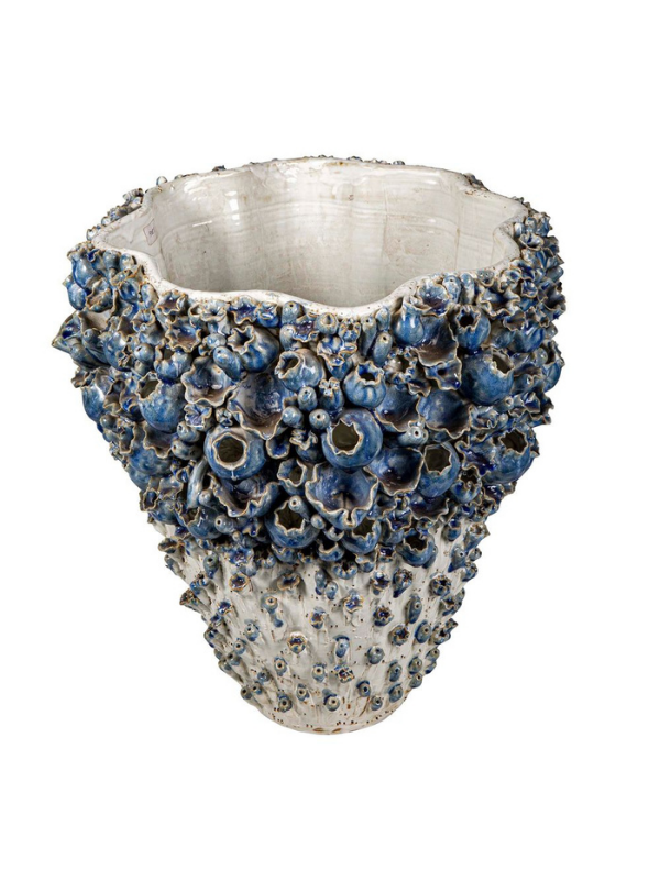 Heavy based, glazed inside and out, this Atlantis Barnacle Vase is reminiscent of a treasure found at the bottom of the ocean. Composition: Glazed ceramic Measurements: L 40cm, W 40cm, H 41cm