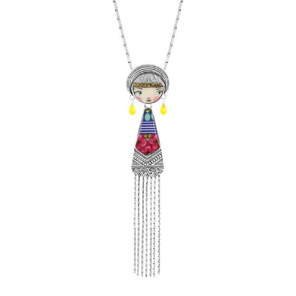 Fabulous French Jewellery from the House of Taratata Bijoux. The Dolly collection is a delightful, multi-coloured collection of female figures.
